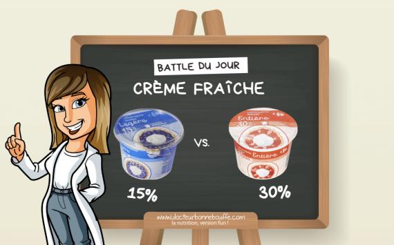 La Battle du jour : crème fraîche épaisse 15% vs 30% de matières grasses