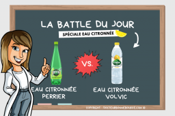 La Battle du jour spéciale eaux aromatisées au citron : Perrier vs. Volvic !
