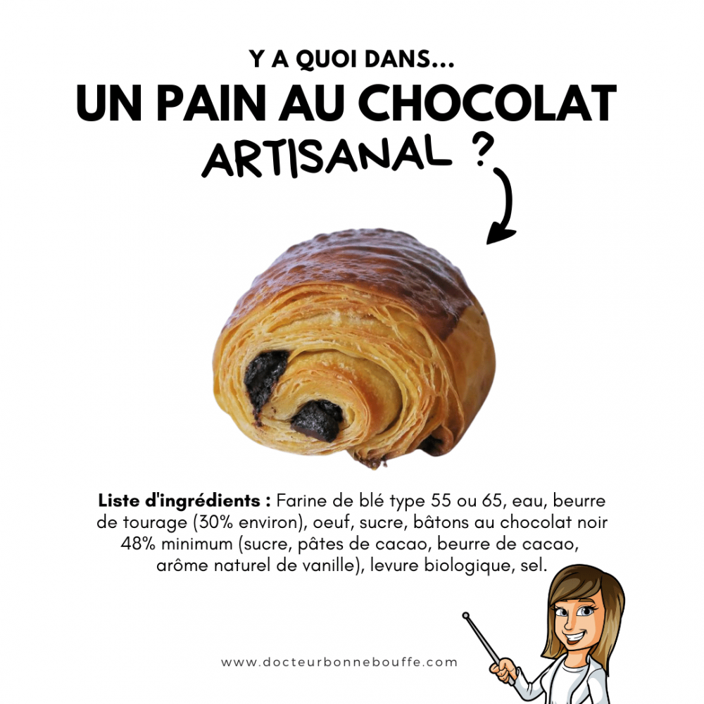 pain au chocolat artisanal boulangerie composition