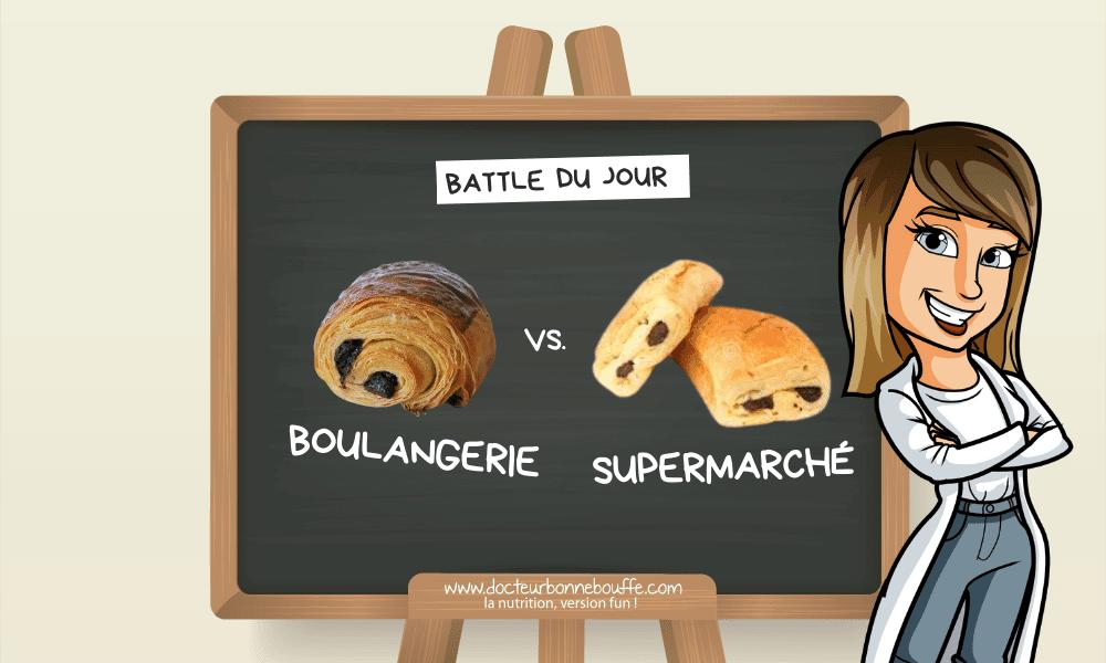 La Battle du jour : pain au chocolat du boulanger vs. du supermarché
