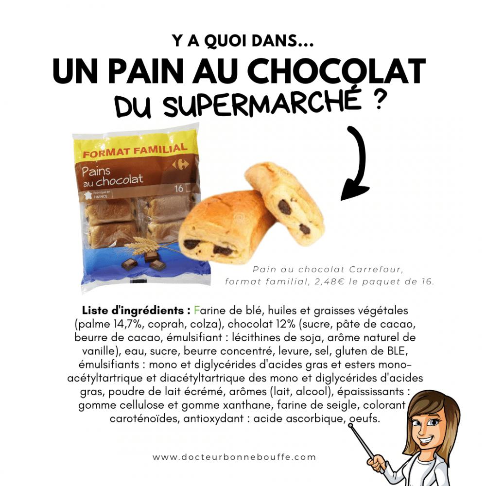 pain au chocolat carrefour composition
