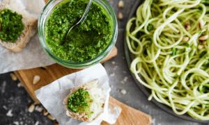 sauce pesto aux épinards recette