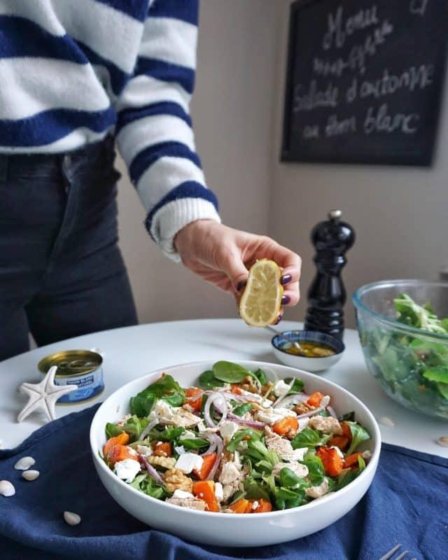 salade d'automne au thon recette