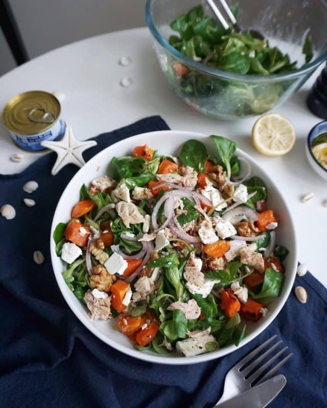 salade d'automne au thon en conserve recette