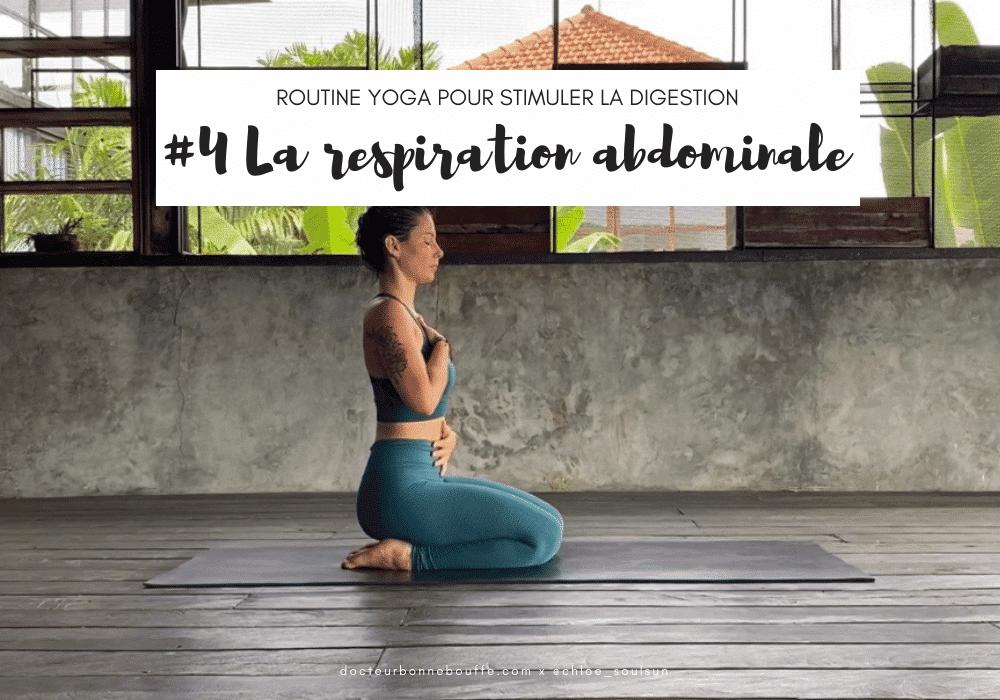 respiration abdominale posture yoga