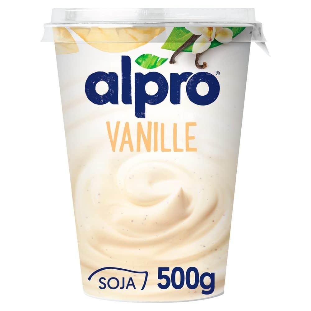 yaourt végétal au soja vanille alpro