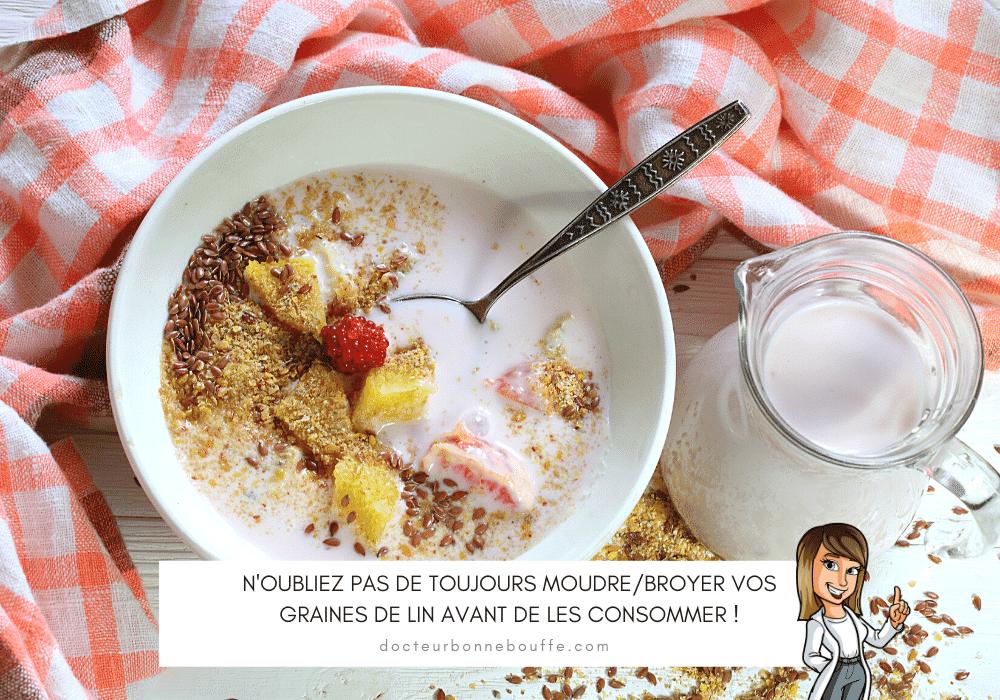 graines de lin porridge recette