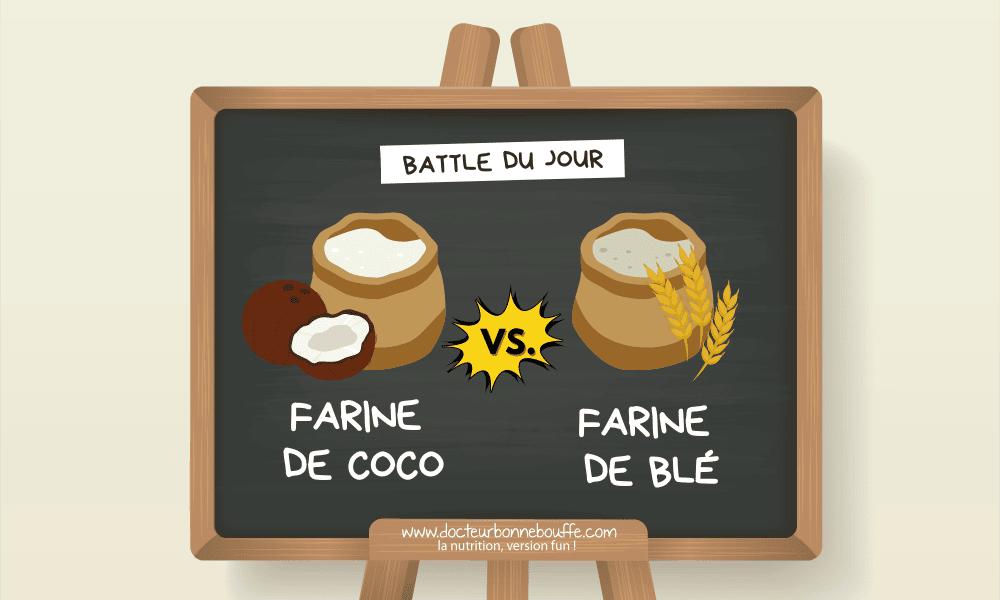 farine de coco ou farine de blé comparatif