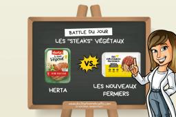 La Battle des steaks végétaux : Herta vs. Les Nouveaux Fermiers, lequel choisir ?