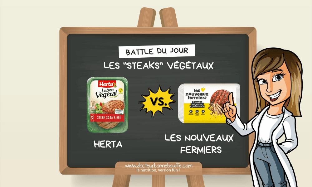 La battle des steaks végétaux : Herta vs. Les Nouveaux Fermiers, lequel est meilleur pour la santé ?