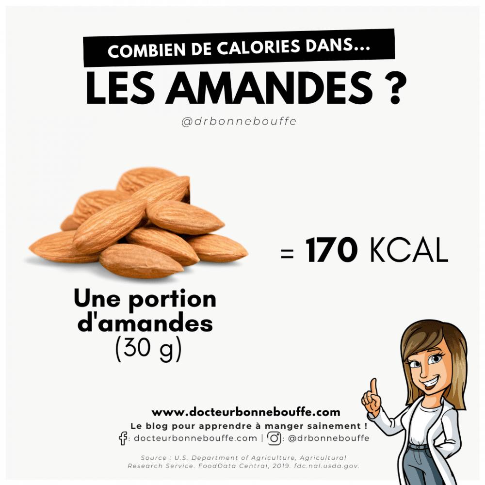 amandes calories