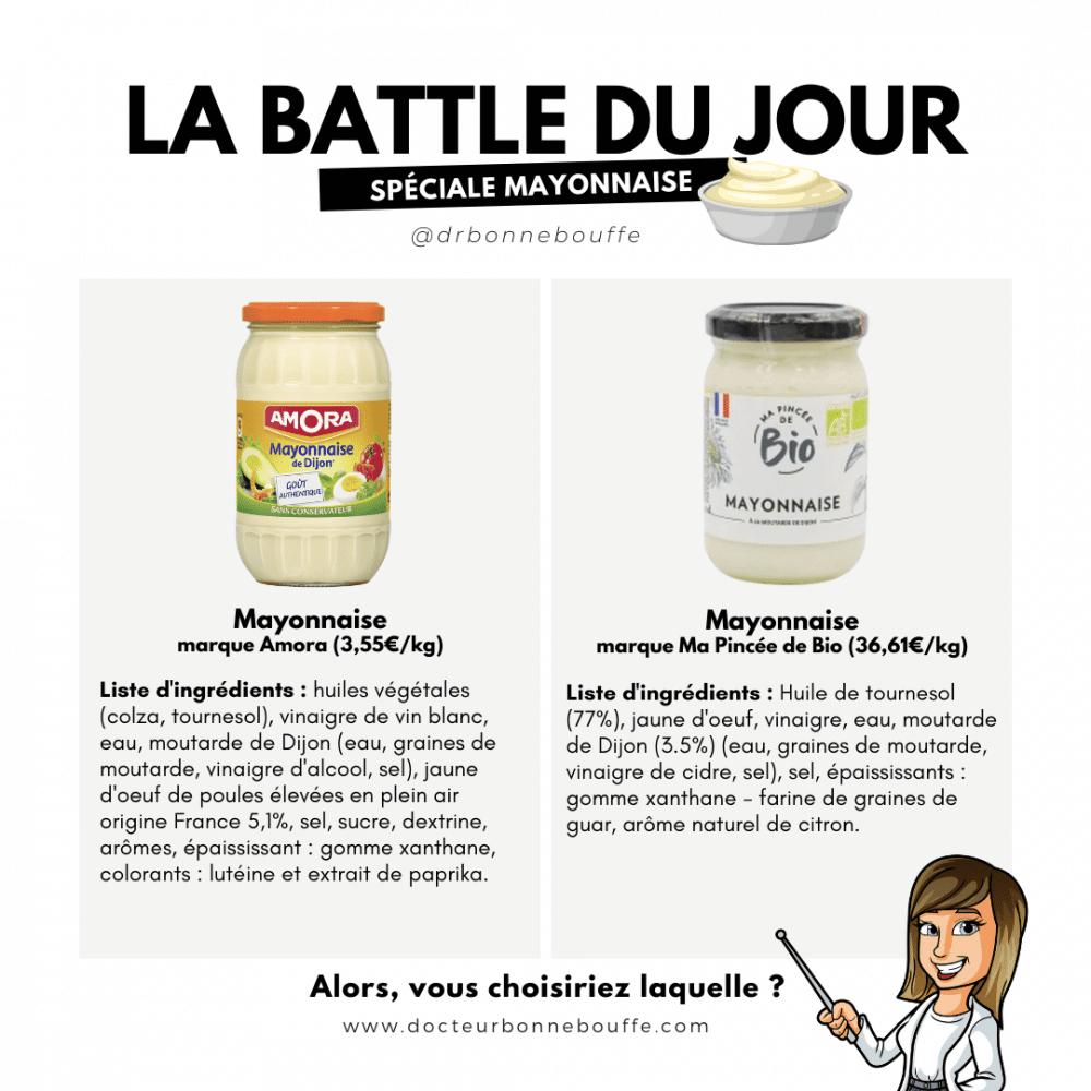mayonnaise composition battle du jour