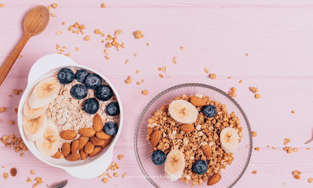 bol du petit-déjeuner amandes
