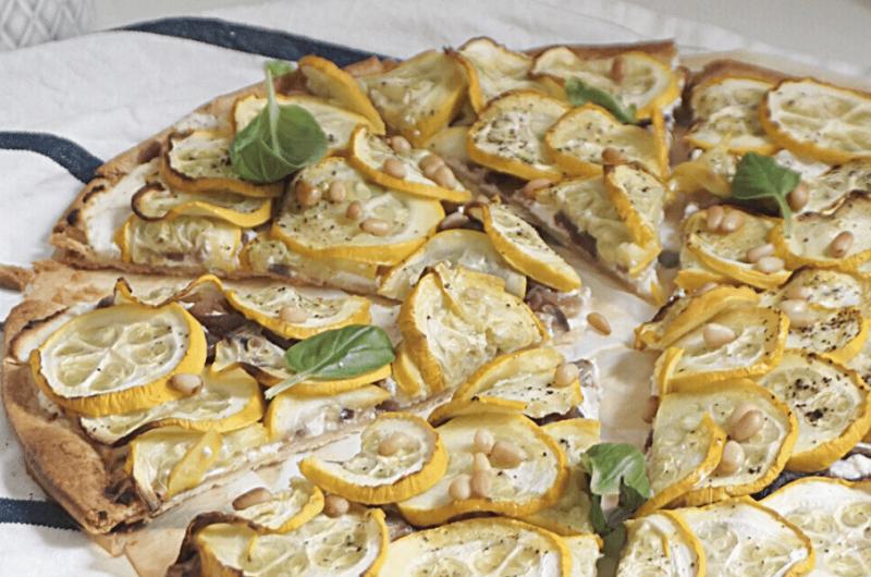 Tarte courgette et ricotta, citron et basilic (recette facile⭐)